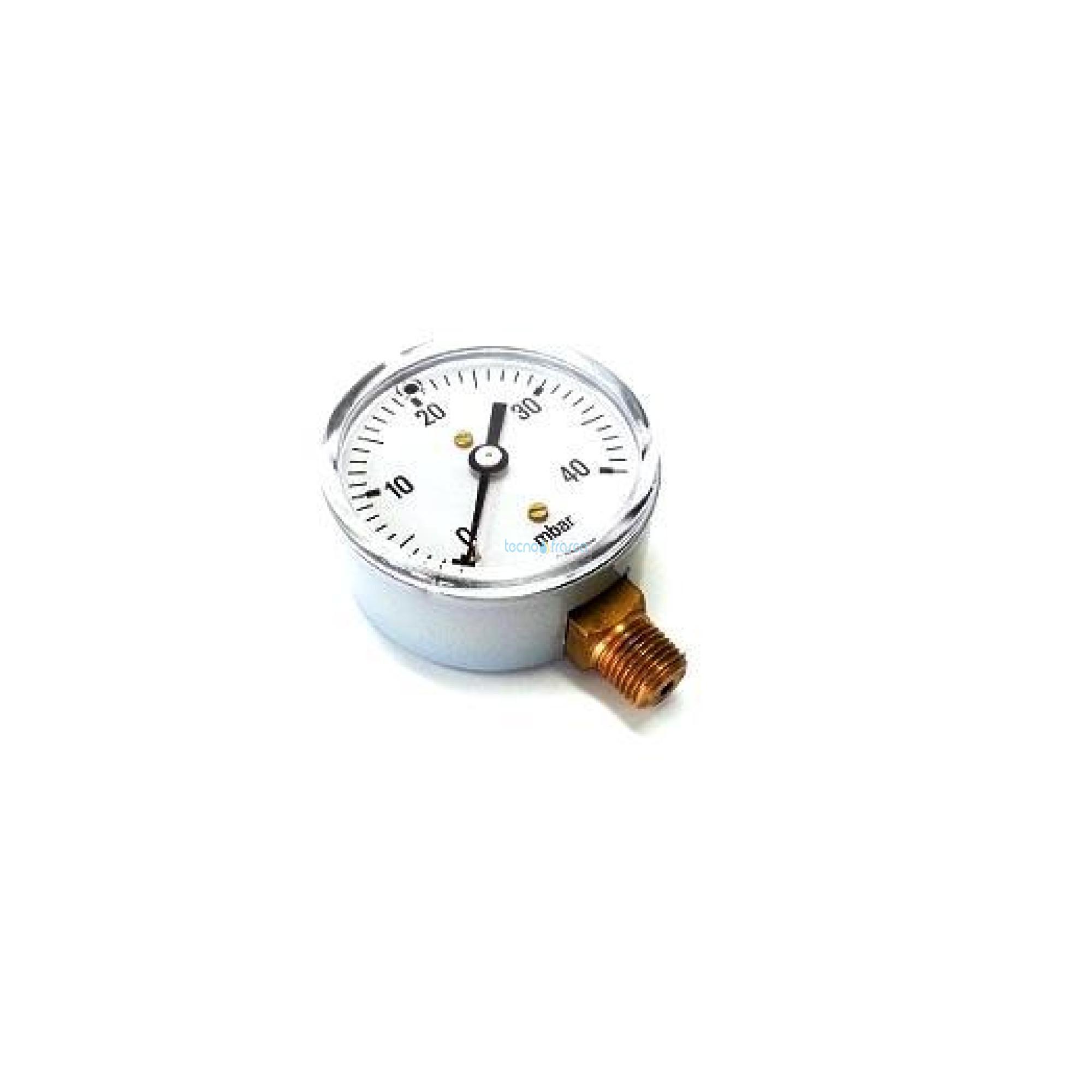 Manometro gas m63 r1/4 40bar cewal 91406201