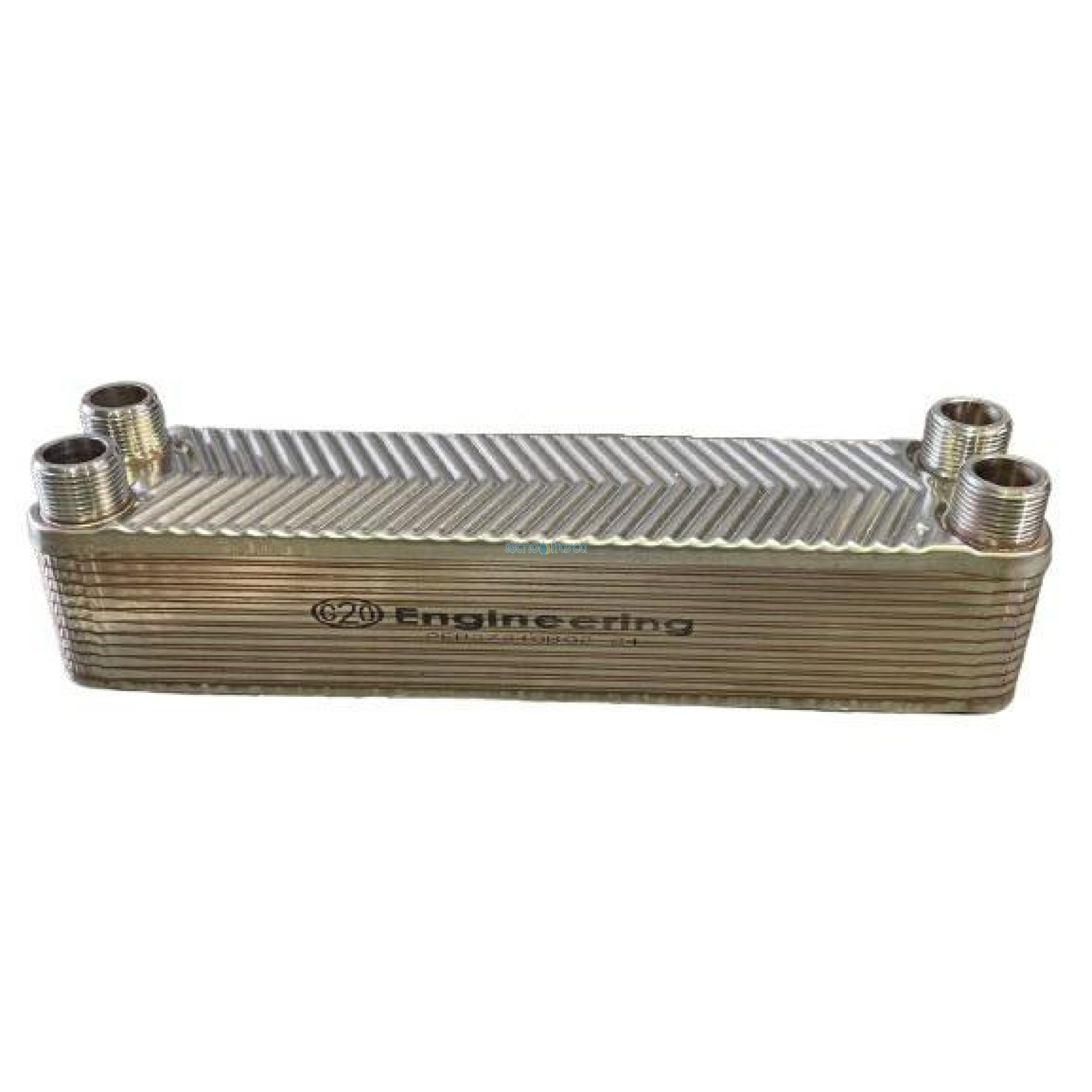 Scambiatore 3/4 24 piastre flusso incrociato termocamino scr047-24