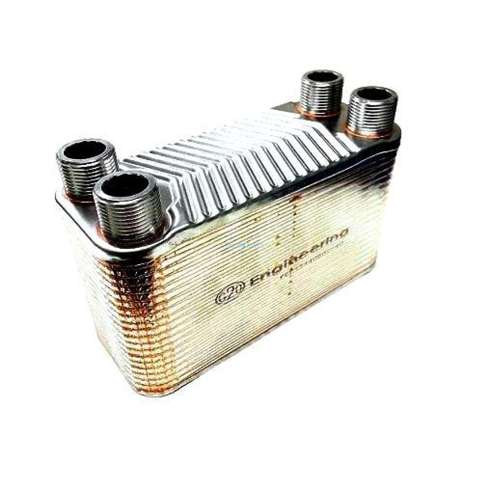 Scambiatore 40 piastre corto scr003 att. 3/4 per termocamino