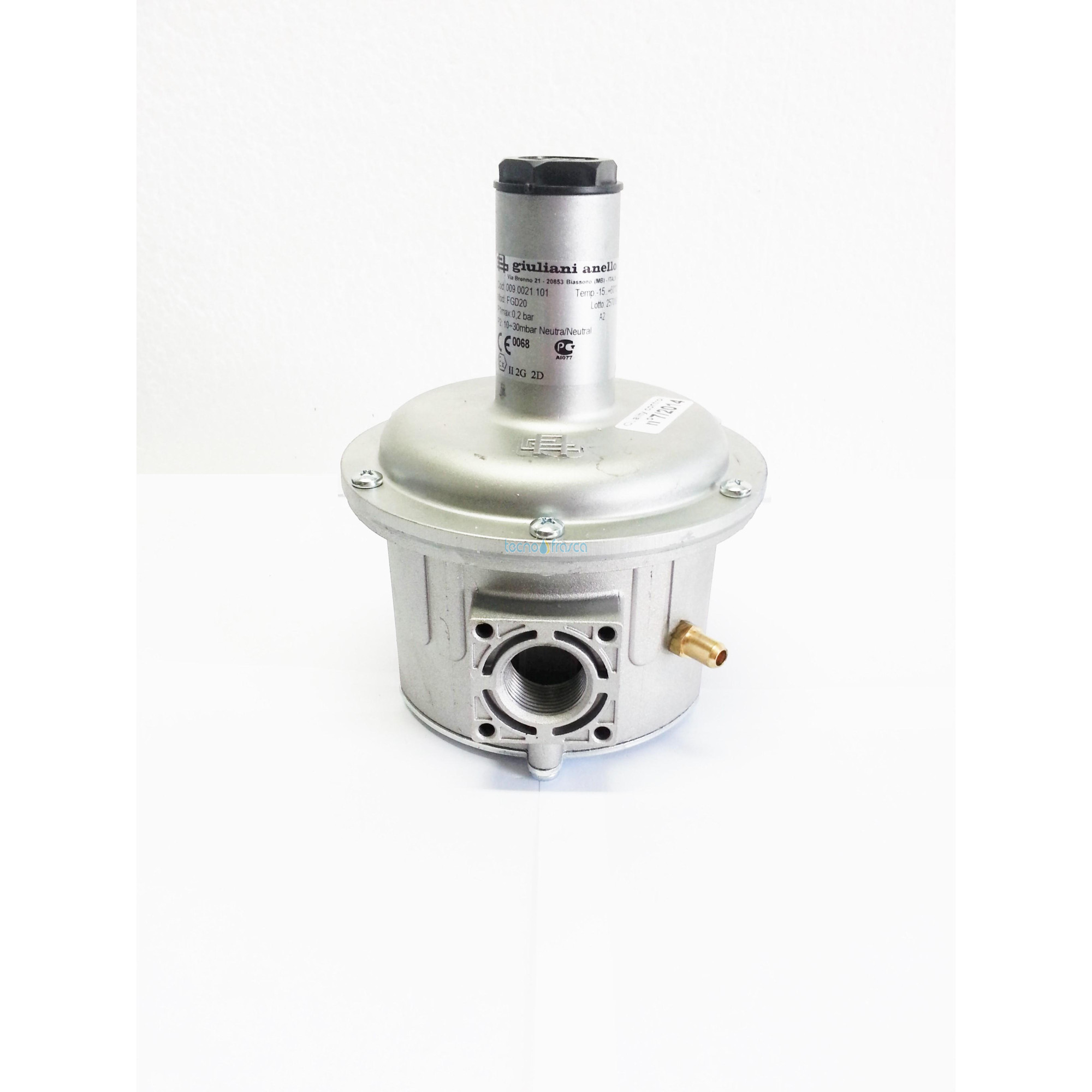 Regolatore con filtro 3/4 fgd20 con molla netura 10-30mbar