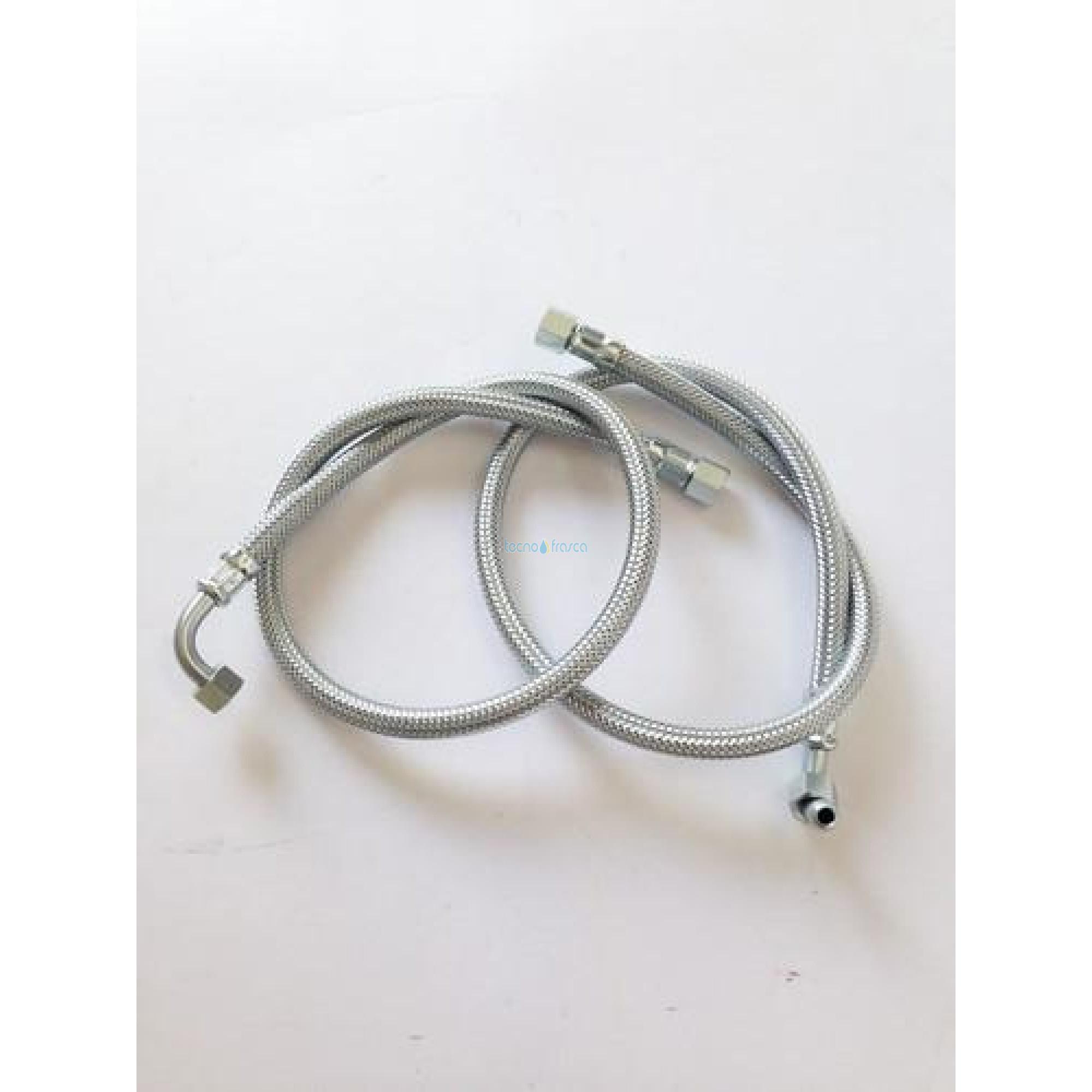 Flessibile gasolio f1/4xf1/4 gomito 90 l750 2pz 602002