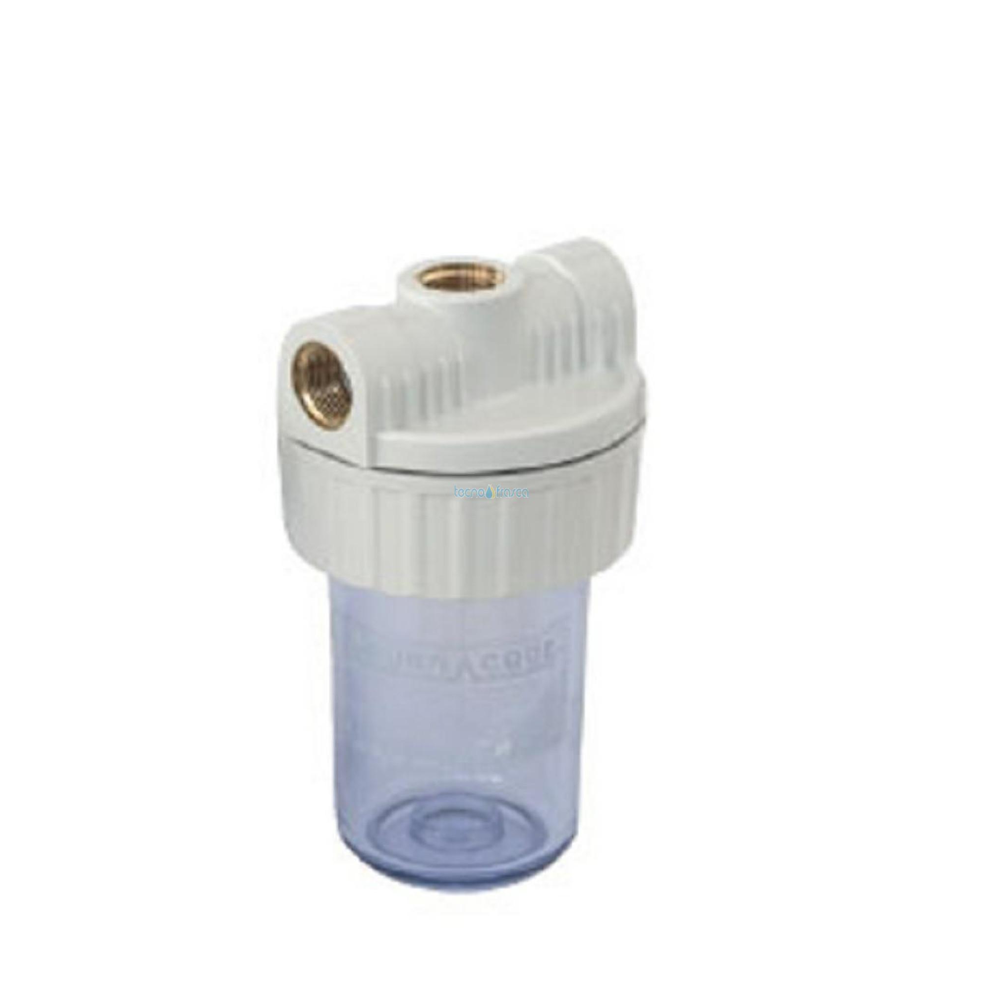 """Involucro filtro plastica vuoto 1/2"""" cartucce mini 5"""" mot1000"""