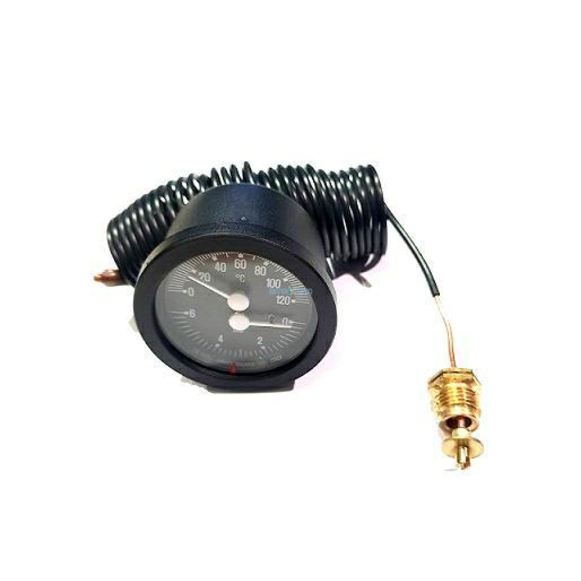 Termomanometro incasso d52 c/cap 1,5mt uen111157/n