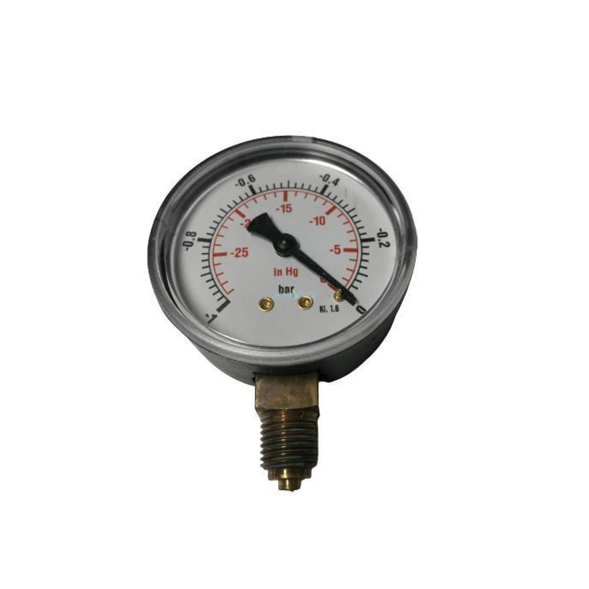 "Vuotometro manovuotometro radiale 1/4"" diam.63 sc.-1/0bar uen110533"
