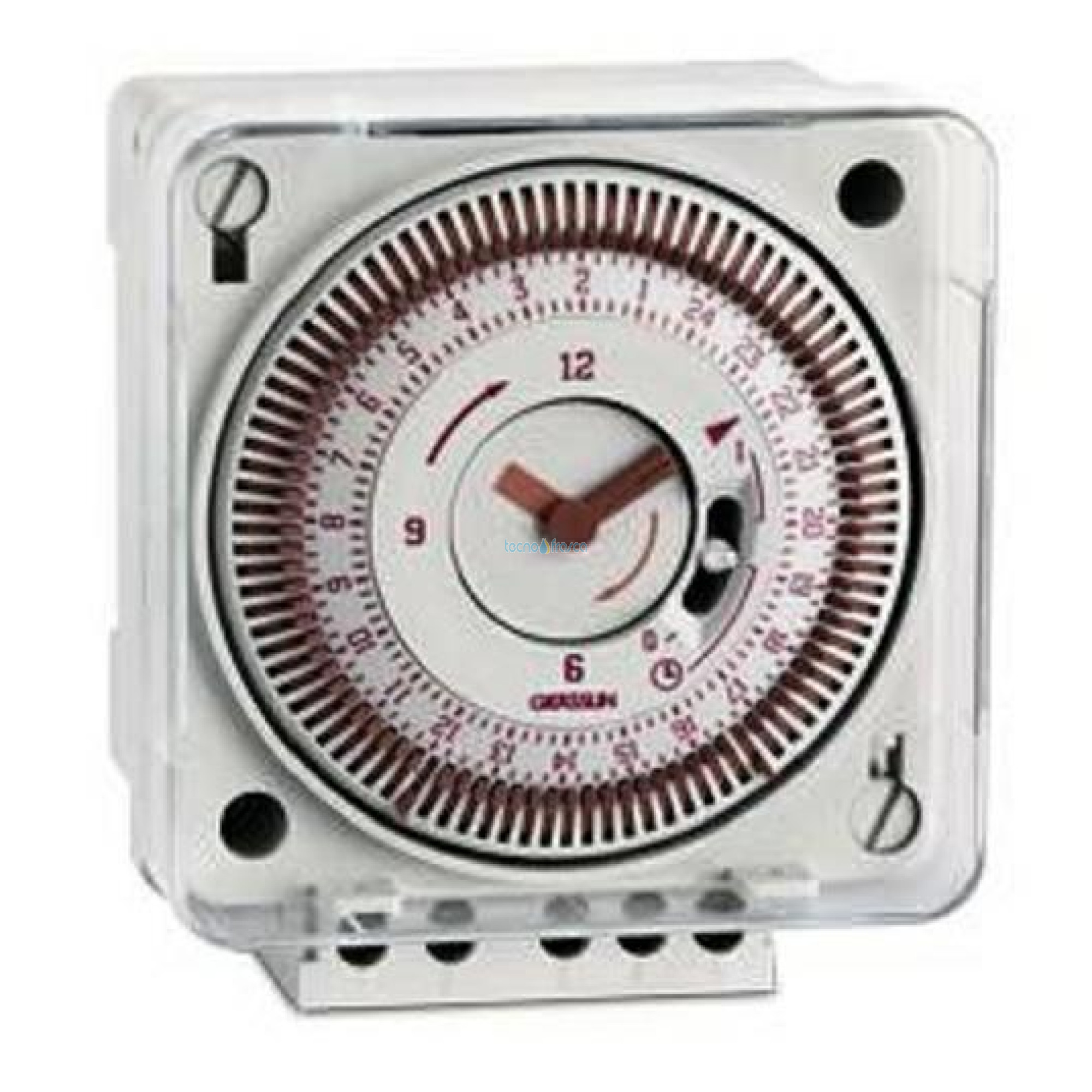 Orologio giornaliero grasslin tecnos ecosquare tec010370