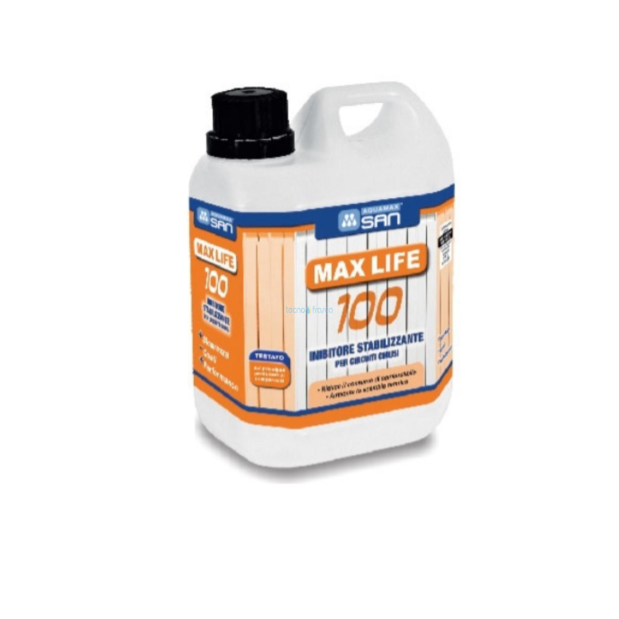 Inibitore di corrosione metallo e plastica max life 100 kg1 10106001